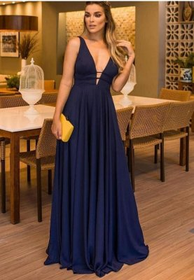 Vestido Laís Azul marinho