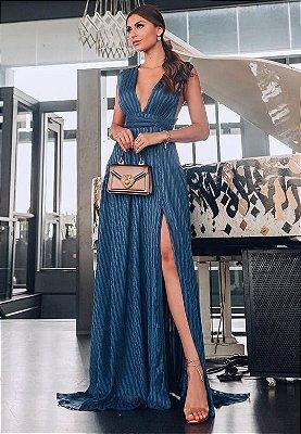 Vestido Sevilha Azul Marinho