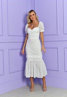 Vestido Laise Sereia Branco