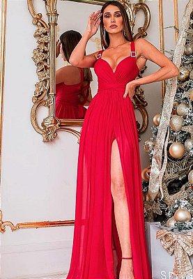 Vestido Serena Marsala