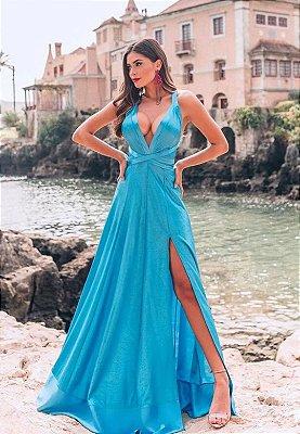 Vestido Atenas Azul
