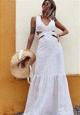 Vestido Det Cintura Branco