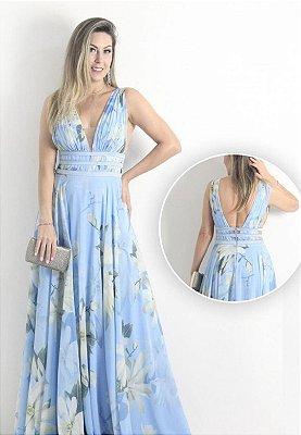Vestido Floral Azul Serenity