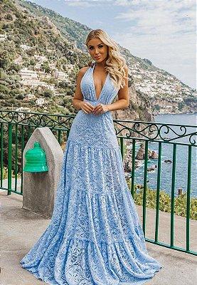 Vestido Lisa Azul Serenity