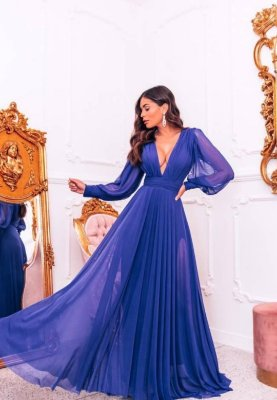 Vestido Grace Azul Royal