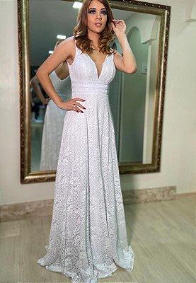 Vestido Poá Branco