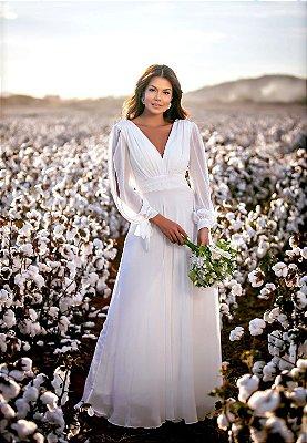 Vestido Catalina Branco