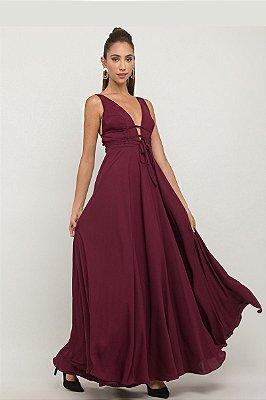 Vestido Laís Marsala