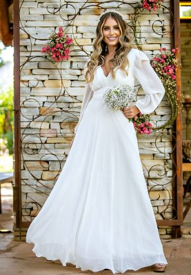 Vestido Aguida Branco