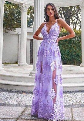 Vestido Pilar Lilás