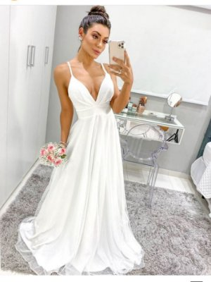 Vestido Catherine Lurex Branco