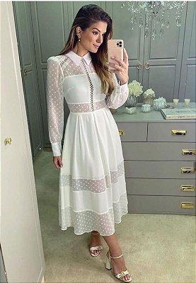 Vestido Lorena Branco