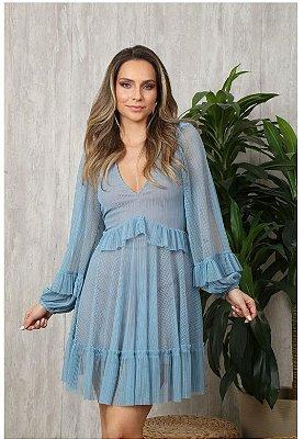 Vestido Dessie Azul Serenity