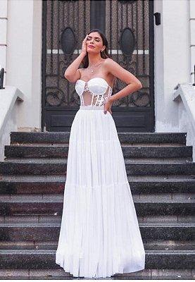 Vestido Ayla Branco