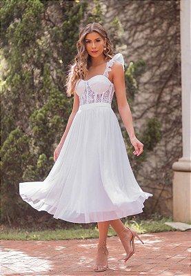 Vestido Lavínia Branco