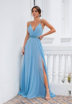Vestido Sônia Azul Serenity