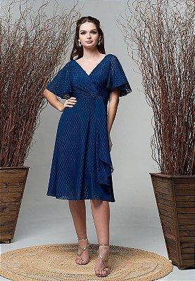 Vestido Carina Azul Marinho
