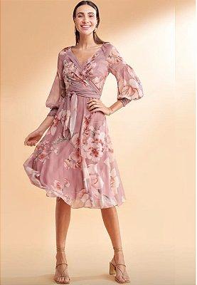 Vestido Siena Floral Rosa