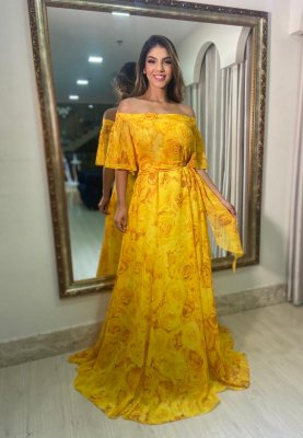 Vestido Siena Floral Amarelo
