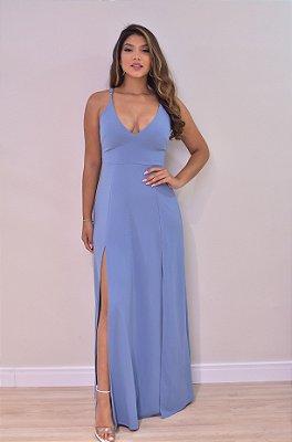 Vestido Queridinho Azul Serenity