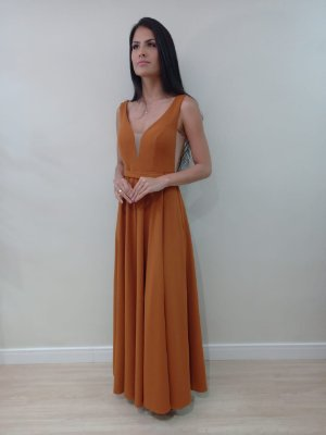 Vestido Izza Terracota
