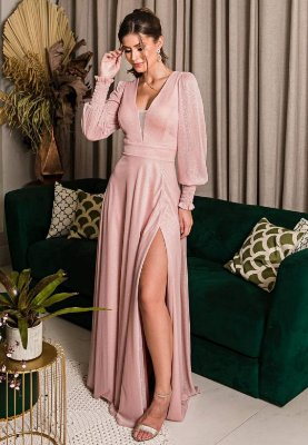 Vestido Lurex Rosa