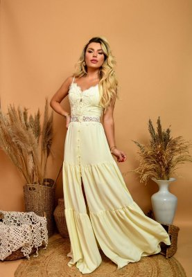 Vestido Alana Amarelo