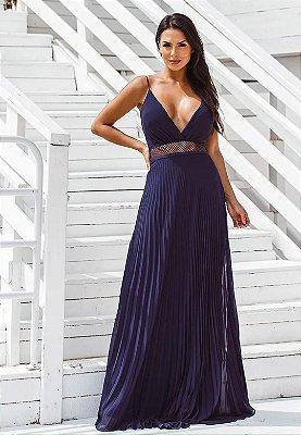 Vestido Geise Azul Marinho