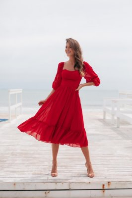 Vestido Ayla Vermelho