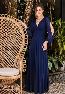 Vestido Catalina Azul Marinho