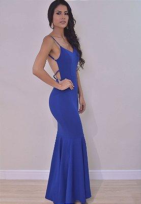 Vestido Lucia Azul Royal
