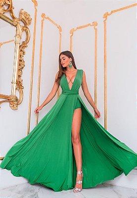 Vestido Safira Verde Bandeira