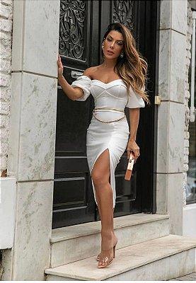 Vestido Clau Off White