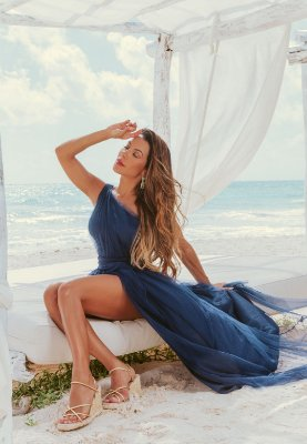 Vestido Bia Azul Marinho