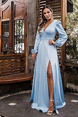 Vestido Cecília Azul Serenity
