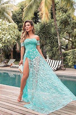 Vestido Ametista Azul Tiffany