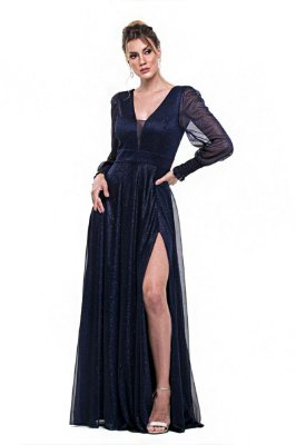Vestido Scarlet Azul Marinho