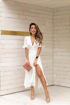 Vestido Lena Midi Off-White
