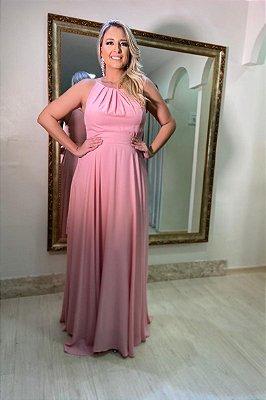 Vestido Faixa Fixa Rosa