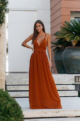Vestido Sandra Terracota