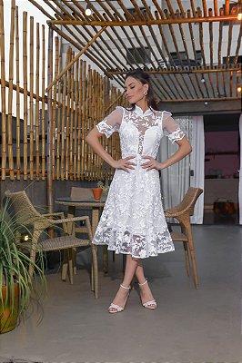 Vestido Lila Branco