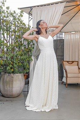 Vestido Girassol Off White