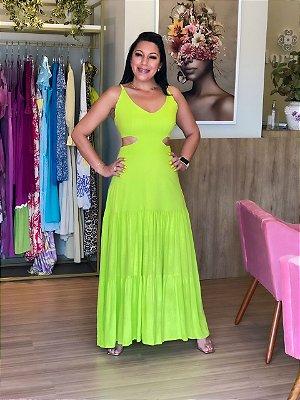 Vestido Longo Linho Lima
