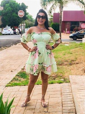 Vestido Ciganinha Floral Verde
