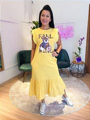 Vestido Midi Fall In Love Lov.it Amarelo