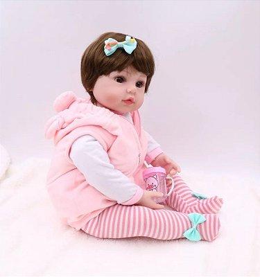 Bebê Talita | 100% Silicone | Pronta Entrega