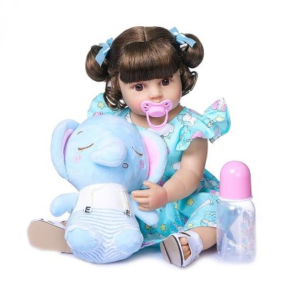 Bebê Fabi -  100% Silicone - PODE DAR BANHO