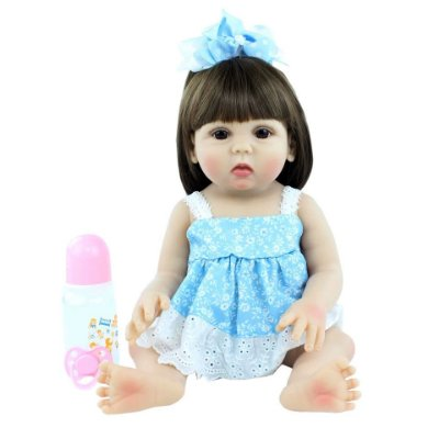 Bebê Luana  100% Silicone  Pode Molhar e dar Banho