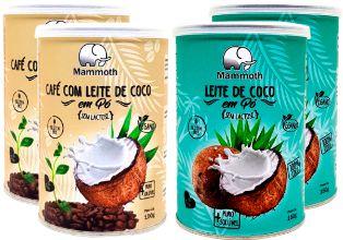 2 Unidades de Leite de Coco em pó e 2 unidades de Café com leite de coco em pó