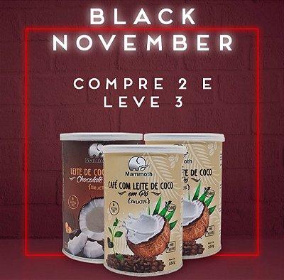Café com Leite de Coco em Pó + Leite de Coco em Pó com Chocolate Belga - Compre 2 Leve 3